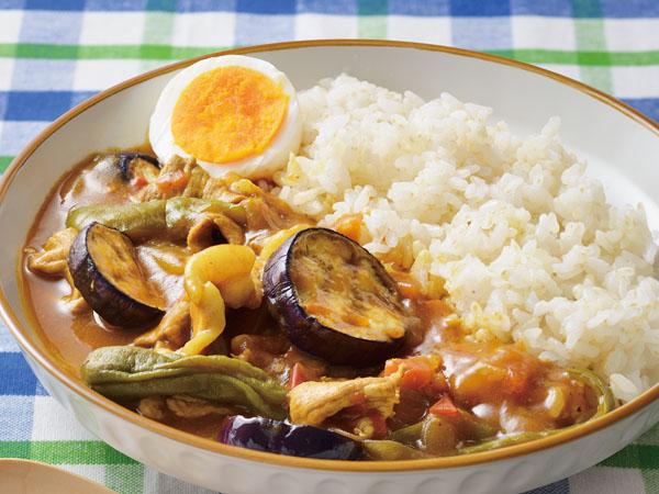 夏野菜とポークのカレー