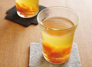 煎茶と干し柿のほの甘いドリンク