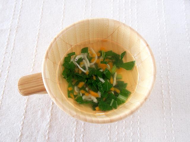 小松菜としらすのすまし汁